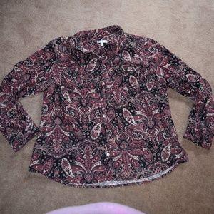 Croft & Barrow Ladies Button down blouse XL